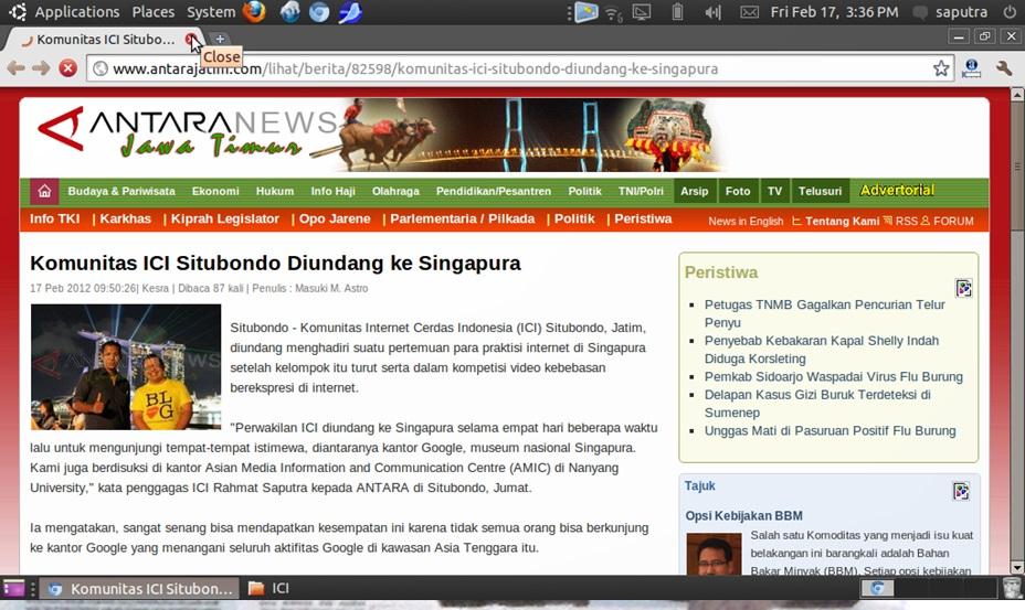 ICI Diundang ke Singapura