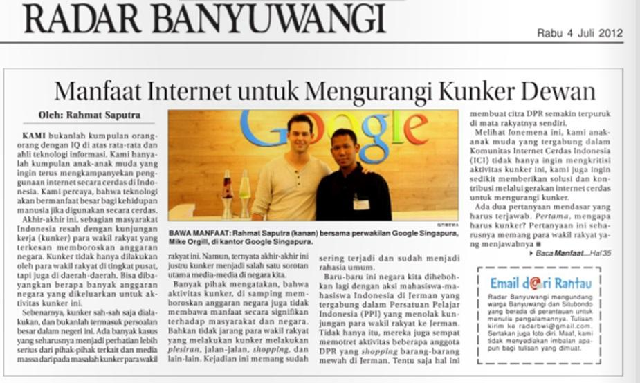 Rahmat Saputra di di Jawa Pos Radar Banyuwangi