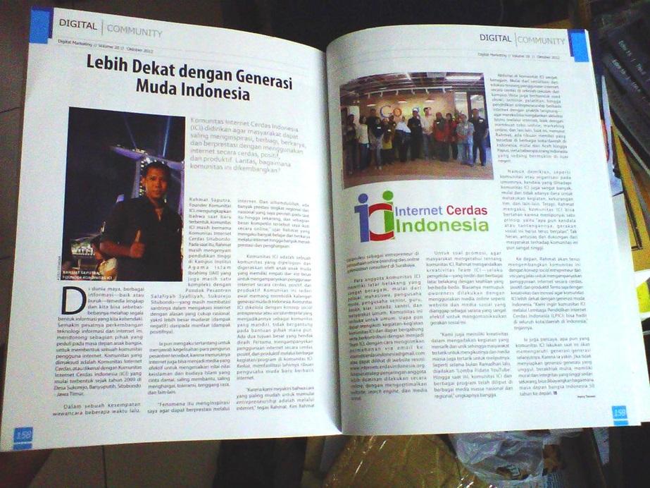 Rahmat Saputra di Majalah Marketing